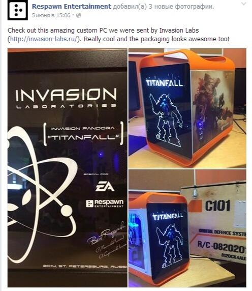 Компьютер Invasion Labs в калифорнийском офисе Respawn entertainment
