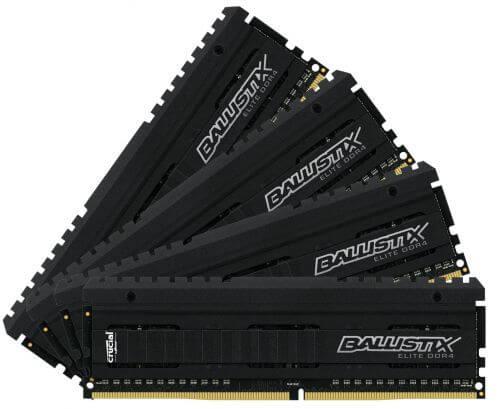 32ГБ (4×8ГБ), DDR4, Crucial Ballistix Elite, 2666 Mhz