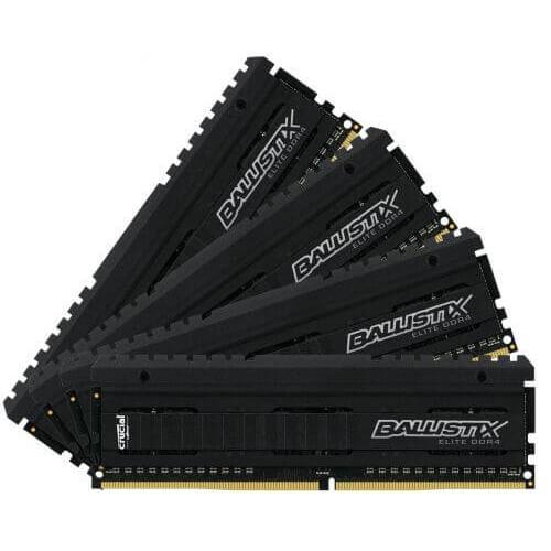 32ГБ (4x8ГБ), DDR4, Crucial Ballistix Elite, 2666 Mhz - INVASION