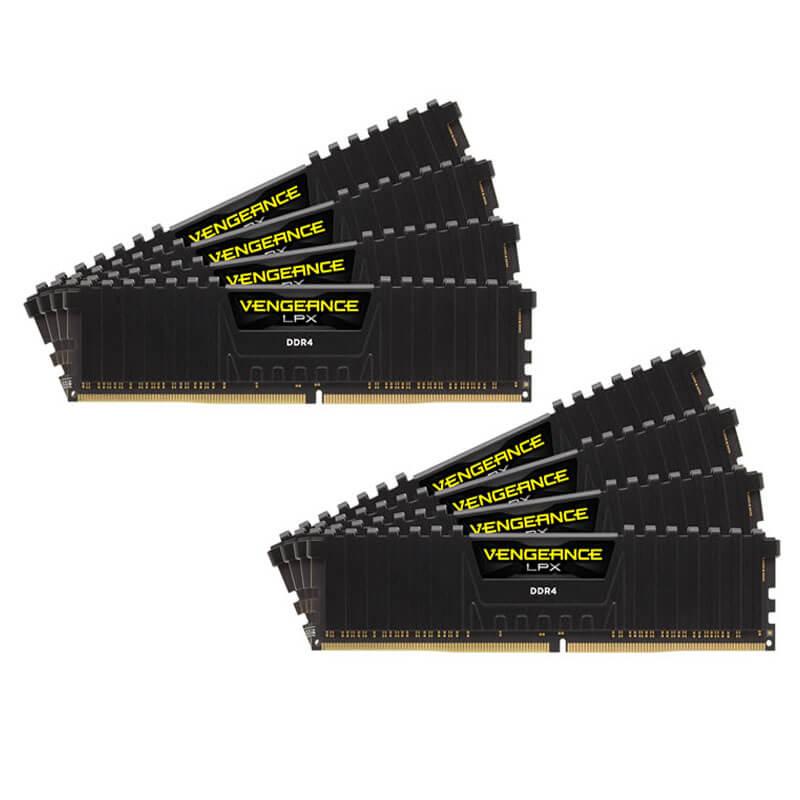 64ГБ (8×8ГБ), DDR4, CORSAIR Vengeance LPX, 2400 Mhz