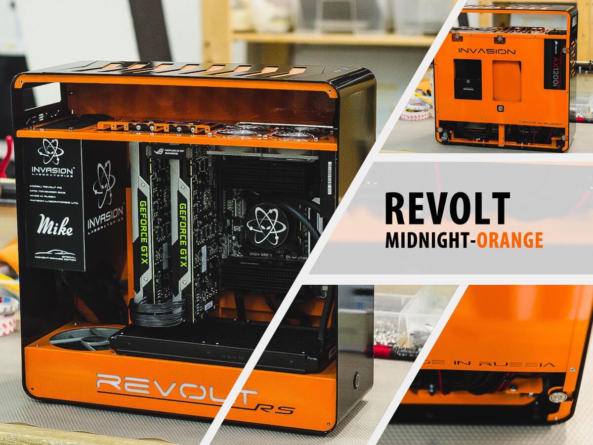 Invasion Revolt Midnight Orange (черно-оранжевый)