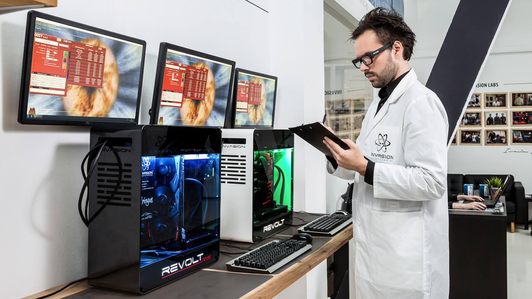 Экскурсия по INVASION Labs: тестирование компьютеров