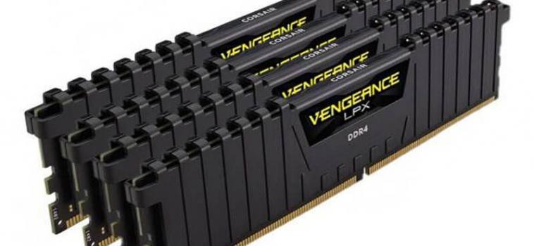 32ГБ (4×8ГБ), DDR4, CORSAIR Vengeance LPX, 2400 Mhz