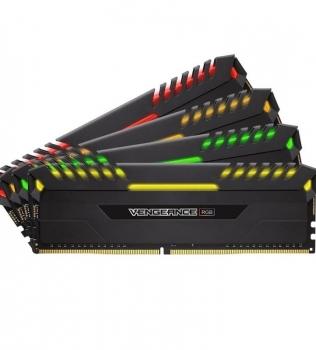 64ГБ (4×16ГБ), DDR4, CORSAIR Vengeance RGB, 2666 Mhz