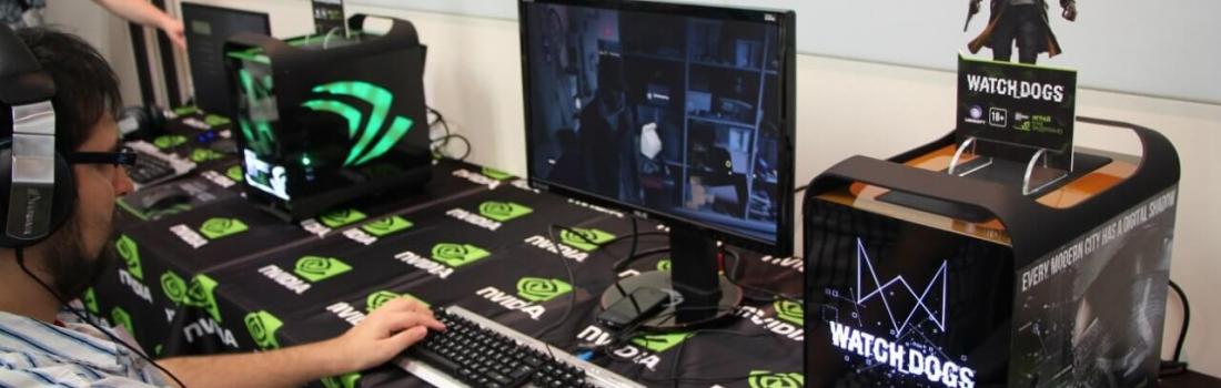 INVASION Pandora Watch Dogs edition в офисе компании NVIDIA на закрытой презентации для журналистов.