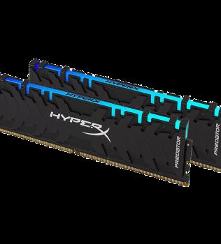 16ГБ (2×8ГБ), DDR4, Kingston HyperX Predator RGB, 2933 Mhz