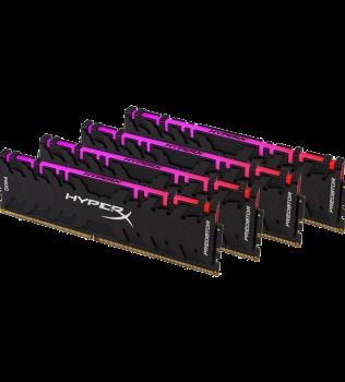 32ГБ (4×8ГБ), DDR4, Kingston HyperX Predator RGB, 3200 Mhz