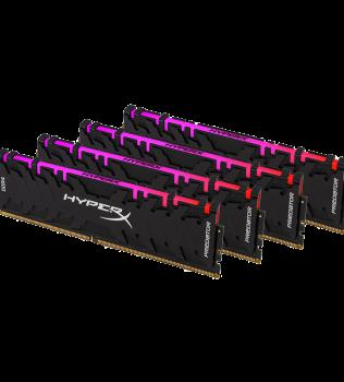 32ГБ (4×8ГБ), DDR4, Kingston HyperX Predator RGB, 2933 Mhz