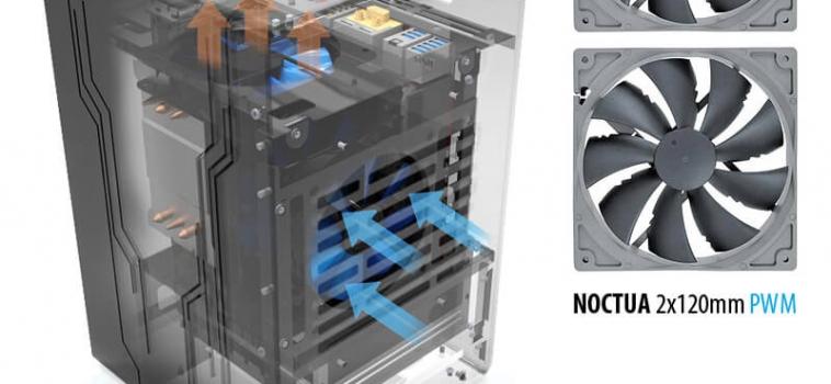 Охлаждение Invasion AERO: Noctua Premium Fan, 2 вентилятора