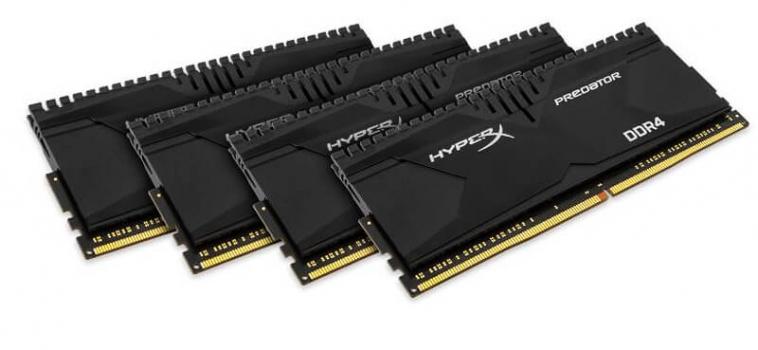 16ГБ (4×4ГБ), DDR4, Kingston HyperX Predator, 2800 Mhz