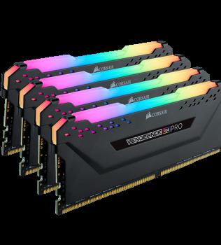 32ГБ (4×8ГБ), DDR4, CORSAIR Vengeance RGB PRO, 3000 Mhz