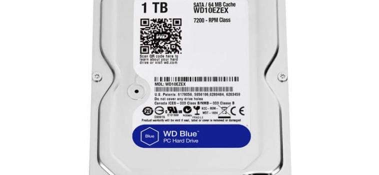 1 Тб, Western Digital Blue WD10EZEX