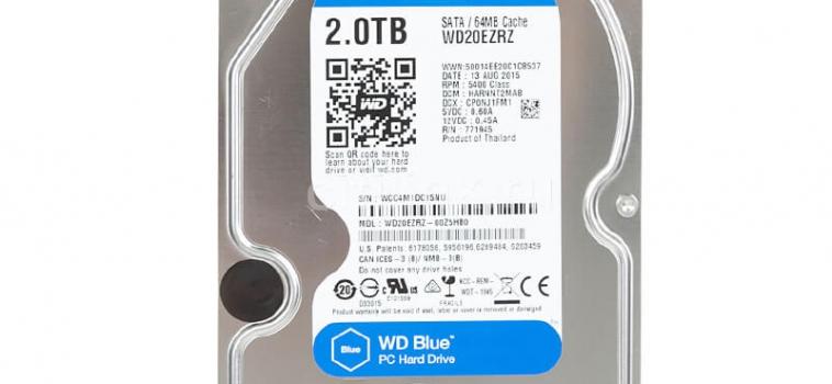 2 Тб, Western Digital Blue WD20EZRZ